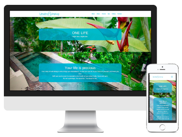 Unwind & Unplug in Ubud: website design and branding