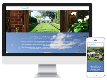 Rivendell Farm Stay Cottages: website design and branding