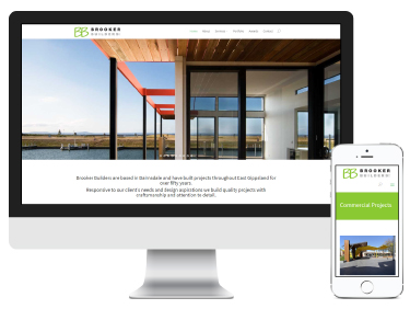 Brooker Builders Bairnsdale: website design