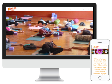 Yoga East: branding and website design & development